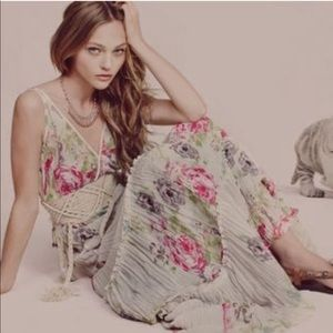 Free People Floral Tiered Maxi Dress